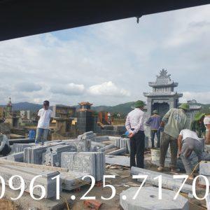 Thi công mộ gia tộc Bắc Ninh.