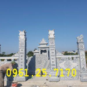 Khu lăng mộ đang hoàn thiện