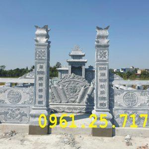 Chuyên lăng mộ, khuôn viên mộ gia đình bằng đá nguyên khối.