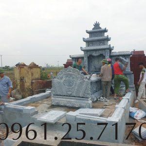 Lắp đặt mộ tổ họ Lê