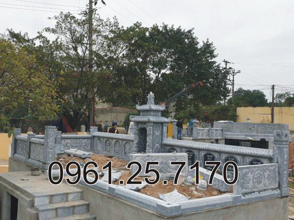 mộ đá quy tập được thi công