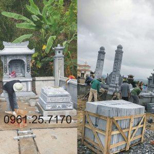 thi công khuân viên lăng mộ